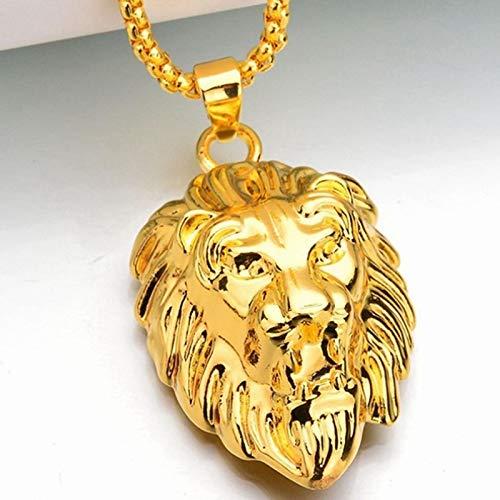 Hiphop Rock Animal Testa Di Leone In Acciaio Inossidabile Collana Con Ciondolo A Catena Color Oro Per Uomo Gioielli Da Uomo Di Moda