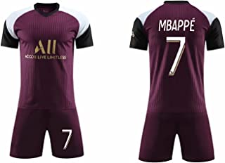 YLJXXY 2021 Paris DREI-Auswärts-Fußballtrikot, 7#10#11#Trikot Herren-Fußballtrikot kurzärmeliges Shirt Shorts Erwachsene und Kinder