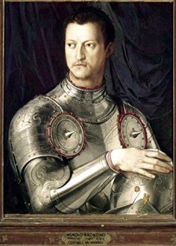 Posterazzi Cosimo I de Medici in Armor 1545 Agnolo Bronzino (1503-1572 Italian) Oil on Wood Galleria Degli Uffizi Florence Italy Poster Print, (24 x 36), Varies