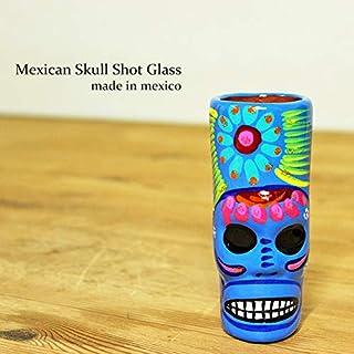 RUG&PIECE Mexican skull メキシカンスカル ショットグラス メキシコ製 (int-2126)