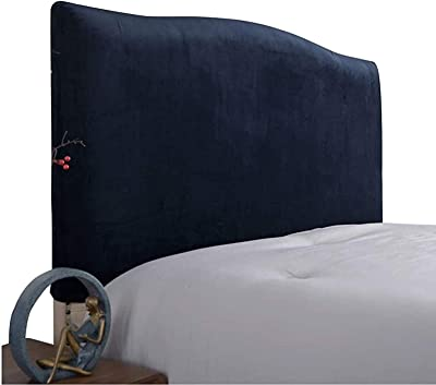 Bed Headboard Cover White/Grey Stretch Dustproof Protector Cover Bed Head Cover Velvet for Single Double King SuperKing headboard