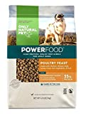 Only Natural Pet Dry Dog Food Canine PowerFood Formula - Made in The USA Paleo Inspired Formula with No Grain, Soy, Corn, Wheat or Oats – Poultry Feast 4.5 lb Bag