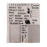 Hothap Kreative Heißer Verkauf Monat DIY Silikon Klar Stempel Für Karte Papier Dekoration