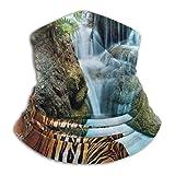 Double Cheese Wasserfall Tiger Neck Gamasche Gesicht Schal Bandana Nahtloses Stirnband Für Männer Frauen Sun Uv Windschutz Skifahren Reiten Laufen