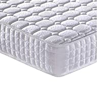 【Spring Mattress Double】- Hundreds of pocket springs work independently, not only minimizing motion transfer from your partner, supporting your body evenly, but also keeping your spine aligned throughout the night 【Memory Foam Mattress】- Vesgantti ma...