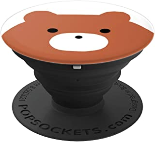 Simple Brown Bear Face Graphic PopSocket - PopSockets Grip and Stand for Phones and Tablets