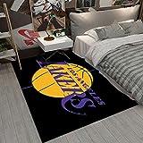 GPUI Lakers Rugs Tapis de sol imprimé basketball pour chambre à coucher, salon, athlète, décoration d'intérieur 50 x 80 cm