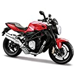 2012 MV Agusta Brutale 1090 R Red 1/12 Motorcycle by Maisto 11096 by Maisto