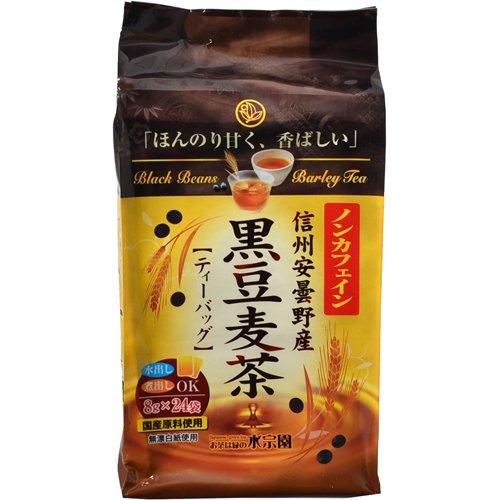水宗園本舗 ノンカフェイン 黒豆麦茶 8gX24