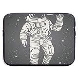 Pop Art Astronaut Saluting 13-15 Inch Laptop Sleeve Bag - Tablet Clutch Carrying Case,Water Resistant, Black-13Inch