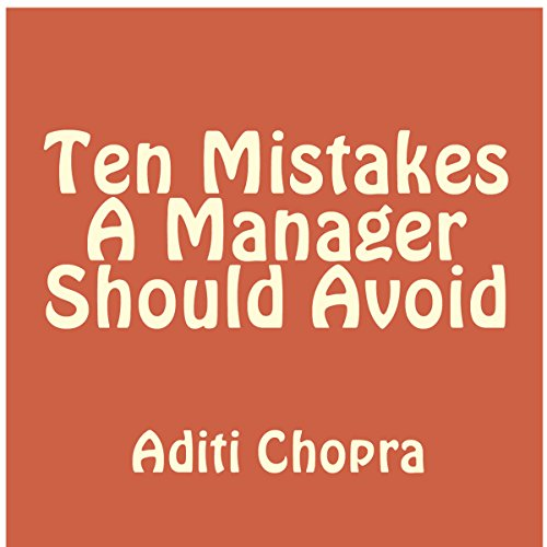 Ten Mistakes a Manager Should Avoid audiobook cover art