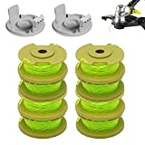 Monarchy String Trimmer Line, 11ft 0.080' Replacement Trimmer Spool for Ryobi One Plus AC80RL3 18v 24v and 40v Weed Wacker String Cordless Trimmers Line Auto-Feed Twist Single Line Parts (10)