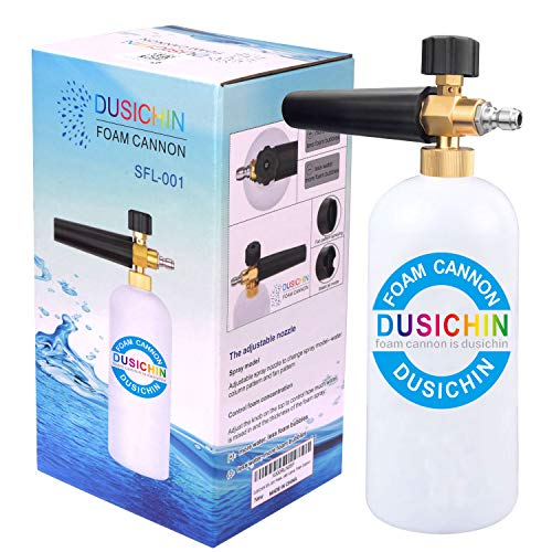 DUSICHIN SFL-001 Foam Cannon Snow Foam Lance Pressure Washer Jet Wash Quick Release Adjustable 1/4' Fitting Male