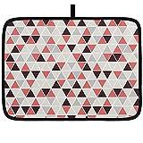 Estera de secado de platos para cocina Patrón de triángulo sin...