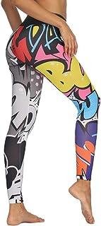 U/A Pantaloni da Yoga Stampati con Graffiti Leggings da Palestra Sportivi Che Eseguono Il Sudore Indossano Allenamenti Mag...