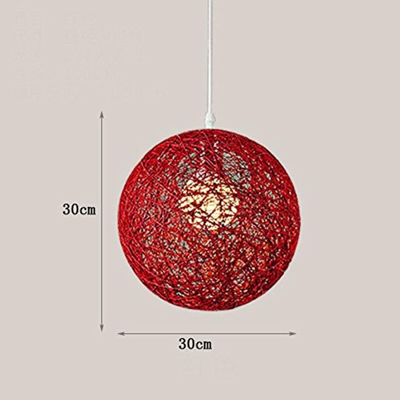 Ma Ball Kronleuchter Kronleuchter Kreative Persnlichkeit Kunst Restaurant Bar Racks Rattan Seil Retro Kronleuchter Kugel Kronleuchter Balkon Langlebig (Farbe  B)