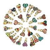 Dtoterul Pinzas Pequeñas 100 Piezas Corazon Clips de Madera Pinzas de Madera Clips Artesanales de Madera Pinzas Madera Corazón Pinzas Madera Clip de Madera Decorativas Pinzas la Ropa