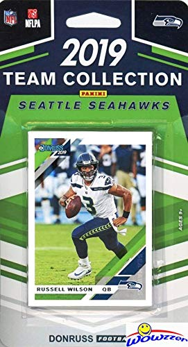 Seattle Seahawks 2019 Donruss NFL Football Limited Edition 12 Card Complete Factory Sealed Team set with Russell Wilson, Rashad Penny, DK Metcalf, Steve Largent & Many More Stars & Rookies! WOWZZER!