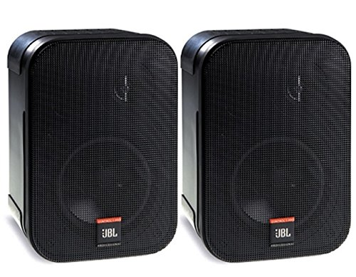 JBL Professional C1PRO High Performance 2-Way Professional Compact Loudspeaker System, Black , Sold as Pair, 9.30 x 6.30 x 5.60 inches