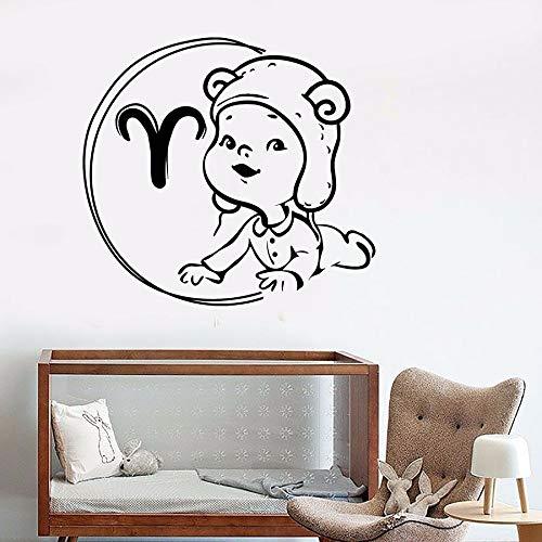 yaonuli muursticker sterrenbeeld ram sterrenbeeld hoofddecoratie vinyl muursticker Mural 68X74cm