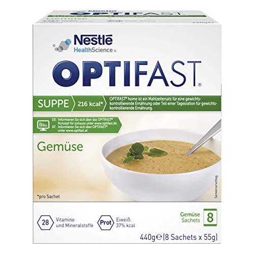 OPTIFAST KONZEPT Diät Suppe Gemüse zum Abnehmen | eiweißreicher Mahlzeitenersatz mit wichtigen Vitaminen und Mineralstoffen | schnell zubereitet und lecker im Geschmack |8 x 55g