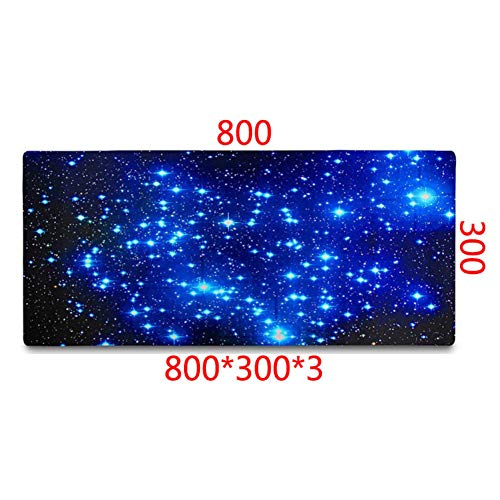 SYQC buitenruimte sterren nevel ruimte behang antislip muis pad pc computer laptop muismat 800x300x3mm Size