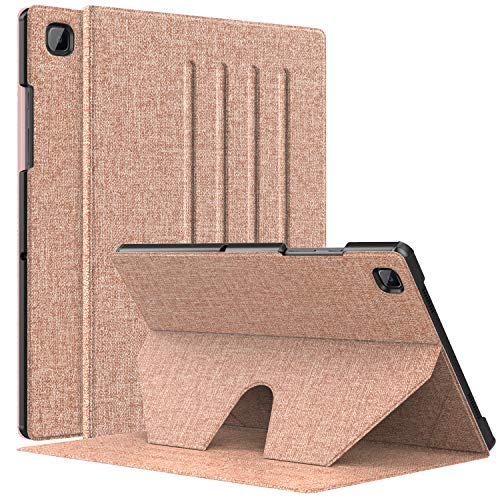 MoKo Tablet Case Compatible With Galaxy Tab A7 2020, Slim Cover Shell Case with Auto-Wake/Sleep & Multi-Angle Stand Fit Samsung Galaxy Tab A7 10.4 Inch 2020 Model (SM-T500/505/507), Rose Gold