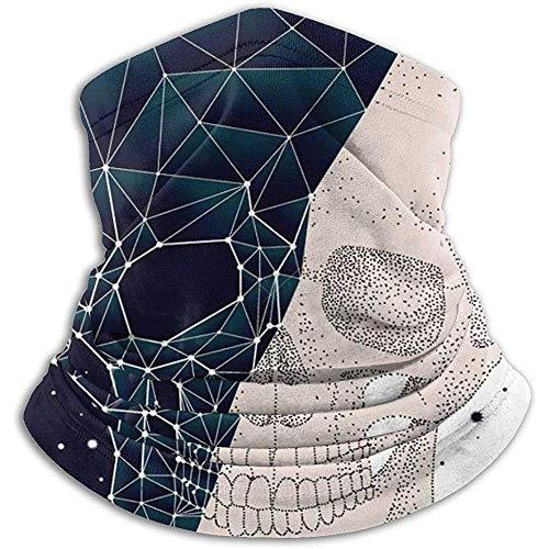 zsxaaasdf Constellation Skull Contrast Neck Warmer Skin-Frindly Neck Gaiter Mask Versatile Neck Gaiter Tube
