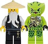 LEGO Ninjago - Juego de minifiguras con Sensei Wu y Lasha (Legacy)