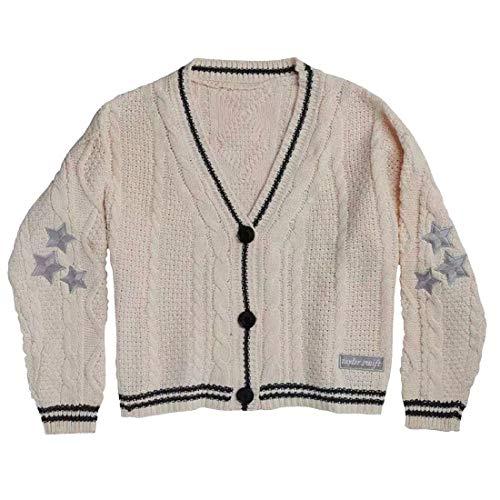 HEJX Taylor Swift el Mismo suéter de Punto Cardigan de