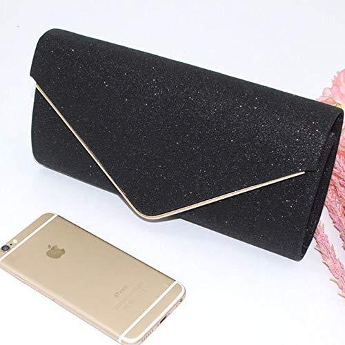 Pochette Donna Borsa da Sera Donna Pochette da Donna Strass Crystal Day Clutch Portafoglio Portafoglio da Cerimonia per Feste Nero da Banchetto