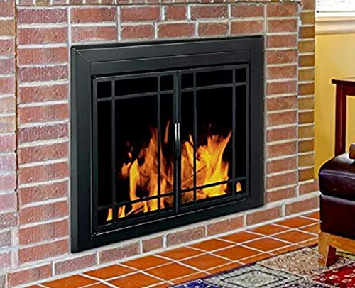Great Price! HDesigns- Fireplace Screens Decorative-Midnight Black 31 H x 37.5 W-Enjoy The Warmth ...