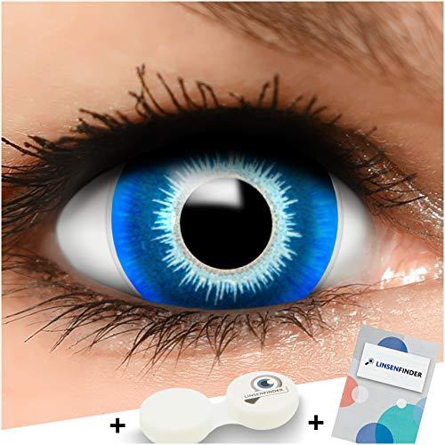 Farbige Maxi Sclera Kontaktlinsen Lenses Elf inkl. Behälter - Top Linsenfinder Markenqualität, 1Paar (2 Stück)