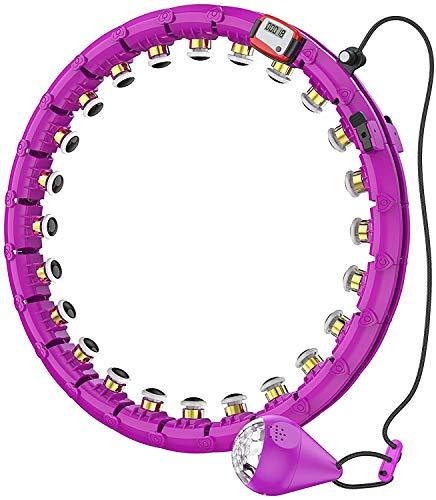 Hula Reifen Hoop mit Zähler, Smart Fitness Reifen Nicht runterfällt mit Massageknoten und 24 beweglichen Teilen verwendet Hoola Hoop für Anfänger, Fitness- und Gewichtsverlusttraining