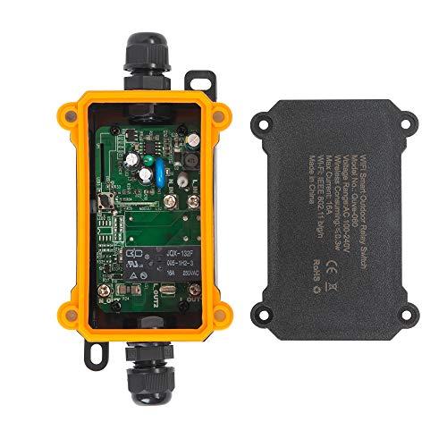 InteHome Intelligent Junction Box Switch Kompatibel mit Alexa, wasserdichtem unterirdischen IP68-Außenkabelanschluss (1-Wege)