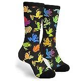 FETEAM Calcetines divertidos Calcetines deportivos para hombres y mujeres de 60 cm Calcetines divertidos para regalo