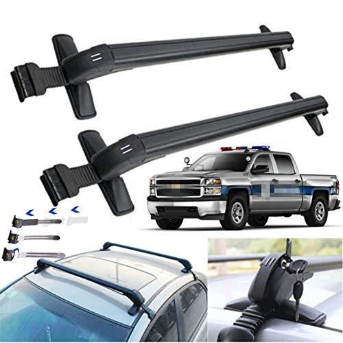 TBVECHI Roof Rack, Car Top Roof Rack Cross Bar Luggage Carrier Adjustable Window Frame Black Roof Bars