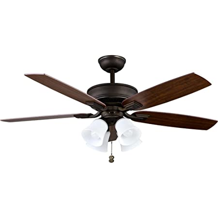 Hampton Bay Devron 52 In Led Indoor Oil Rubbed Bronze Ceiling Fan With Light Kit Amazon Com