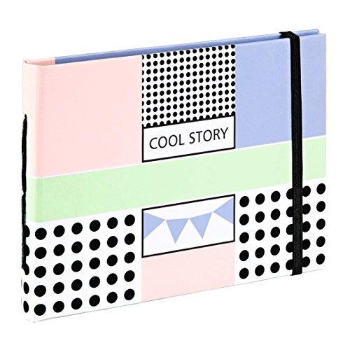 Hama Polaroid Fotoalbum für Instax Mini (Fotobuch für ca. 20-30 Sofortbilder, Album zum einkleben und selbstgestalten) Pastell