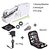 DYGZS Portable Mini Hand Sewing Machine Household Cordless Electric Stitch Needlework Set For Quick Repairs Diy Clothes Stitchin 20.5 * 3.2 * 6.7cm as the picture shows