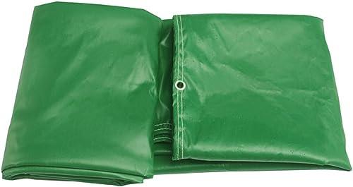 LIYFF Baches multifonctionnelles de Bache de Bache de Bache Résistante d'ombre de Plein air pour Le Camping, Pêchant, Jardinage, Options de Multi-Taille (Vert)