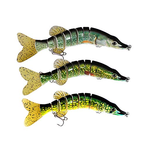 ods lure Multi Jointed Swimbaits Pike Lures with Hooks (F8J02-Kit 1)