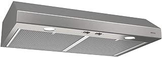 Broan-NuTone BCSD124SS Glacier Range Hood with Light, Exhaust Fan for Under Cabinet, Stainless Steel, 1.5 Sones, 250 CFM, 24