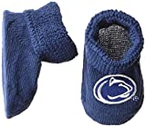 Two Feet Ahead NCAA Newborn Infant Booties with Gift Box, Penn State Nittany Lions, Solid