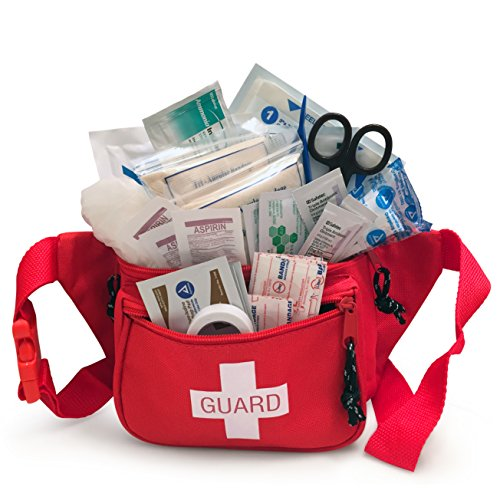 Primacare KB-8005 First Aid Fanny Pack - First Aid Kit Stocked with Supplies