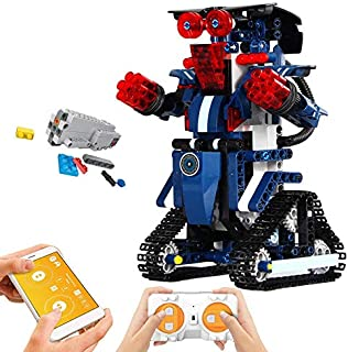 Mould King Remote Control Building Block Robot Set for...