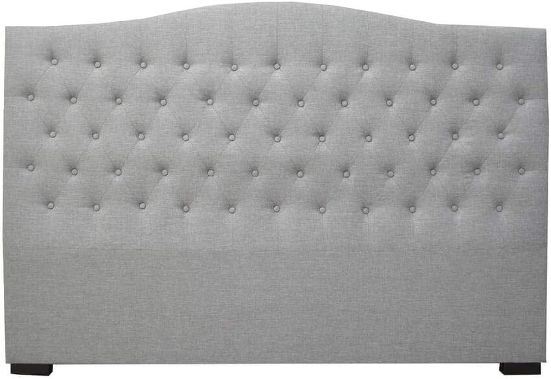 Vibiana King Upholstered Linen Headboard - Grey