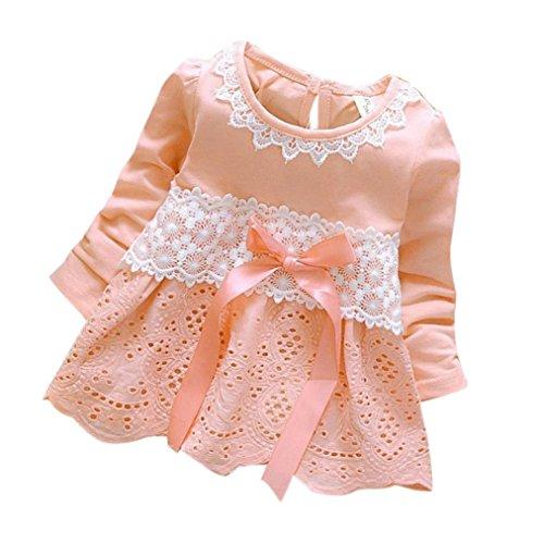Baby Mädchen Kleider Prinzessin Kleider Dresses Xinantime (0-6Monat, Pink)