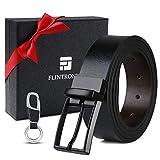 flintronic ® Cinturón Cuero Hombre, 125cm Cinturón con Reversible Correa de H...