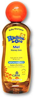 Honey Bee Ricitos de Oro Shampoo| Baby Shampoo with Pop-Up Rattle Cap, Paraben Free Product for Baby's Delicate Hair; 13.5 Fl Ounces